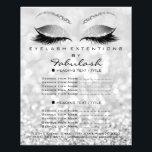 "Makeup Artist Beauty Salon Glitter Flyer Silver<br><div class=""desc"">florenceK luxury beauty salon colletion</div>"