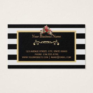 Makeup Artist Beauty Salon Gold Business Card