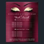 "Makeup Artist Beauty Salon Gold Glitter Flyer Lux<br><div class=""desc"">florenceK luxury beauty salon colletion</div>"