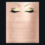 "Makeup Artist Beauty Salon Gold Glitter Flyer Pink<br><div class=""desc"">florenceK luxury beauty salon colletion</div>"