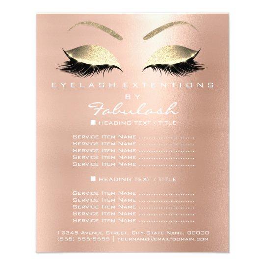 Makeup Artist Beauty Salon Gold Glitter Flyer Pink