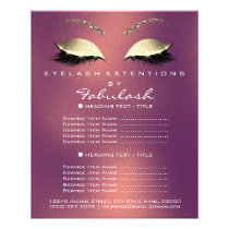 Makeup Artist Beauty Salon Gold Glitter Flyer Rose
