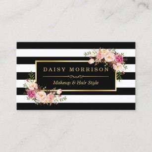 Makeup artist business cards zazzle makeup artist beauty salon gold vintage floral business card colourmoves