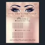 """Makeup Artist Beauty Salon Lash Flyer Powder Rose<br><div class=""""desc"""">florenceK luxury beauty salon colletion</div>"""