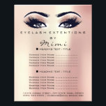 "Makeup Artist Beauty Salon Lashes Flyer Pink Rose<br><div class=""desc"">florenceK luxury beauty salon colletion</div>"
