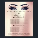 """Makeup Artist Beauty Salon Lashes Flyer Pink Rose<br><div class=""""desc"""">florenceK luxury beauty salon colletion</div>"""