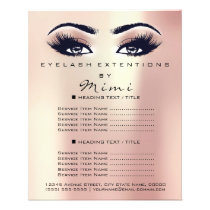 Makeup Artist Beauty Salon Lashes Flyer Pink Rose