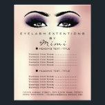 """Makeup Artist Beauty Salon Lashes Flyer Pink Viole<br><div class=""""desc"""">florenceK luxury beauty salon colletion</div>"""