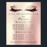 """Makeup Artist Beauty Salon Lashes Flyer Rose Spark<br><div class=""""desc"""">florenceK luxury beauty salon colletion</div>"""