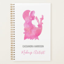 Makeup Artist Beauty Salon Personalized Watercolor Planner