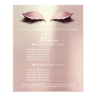 Makeup Artist Beauty Salon Pink Gold Glitter Flyer