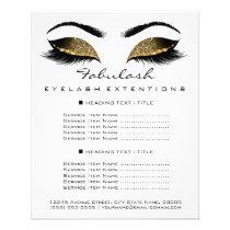 Makeup Artist Beauty Salon Price List Flyer White