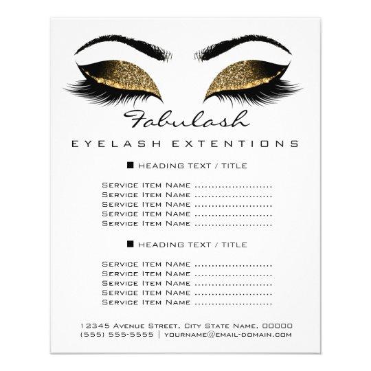 makeup artist beauty salon price list flyer white zazzle com
