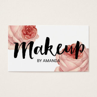 Makeup Artist Beauty Salon Vintage Floral Business Card