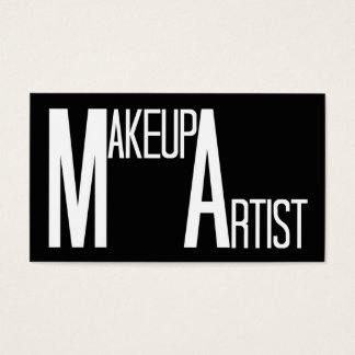 Makeup Artist Black Simple Business Card