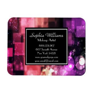 Makeup Artist Bokeh Shiny Pink Lights Magnet