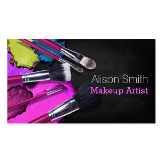 Makeup Artist brushes/Cosmetic Brushes Business Card