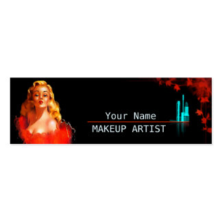 MakeUp Artist - Business, Calling Card Business Card Template