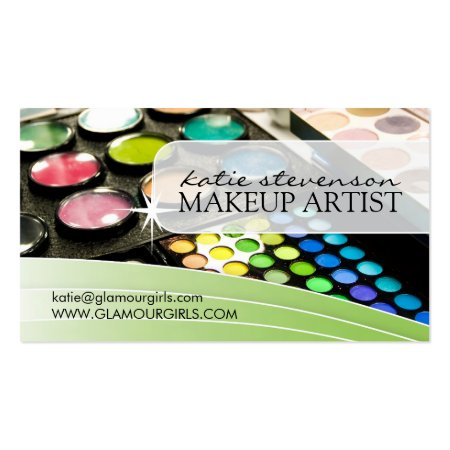 Makeup Artist Palettes Cosmetologist Business Cards