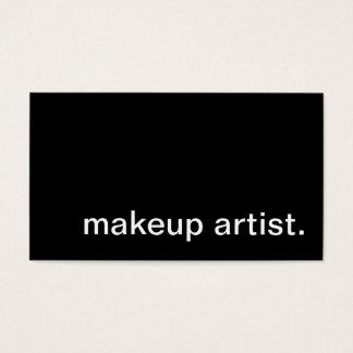 makeup artist. business card