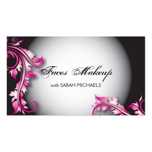 Makeup Artist Business Card Bold Fancy Floral