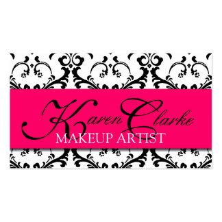 Makeup Artist Business Card Damask Pink