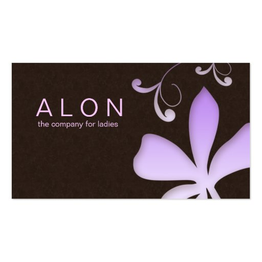 Makeup Artist Business Card Flower Purple