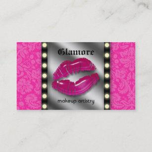 Makeup mirror business cards zazzle makeup artist business card lights lips mirror colourmoves