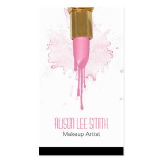 Makeup Artist business card Plantilla De Tarjeta Personal