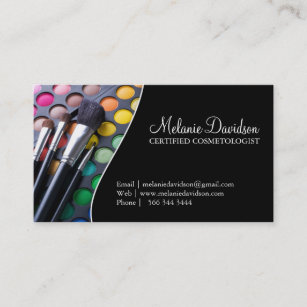 Brushes cosmetologist makeup artist business cards zazzle makeup artist business card template accmission Images