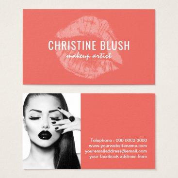 Professional Business Makeup Artist Business Card Template