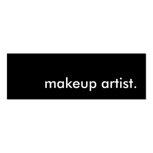 Makeup artist business card templates zazzle for Makeup artist business cards templates
