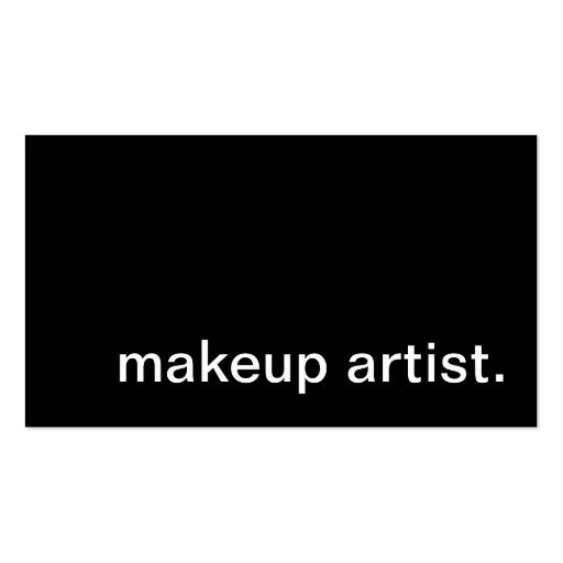 makeup artist. business card templates