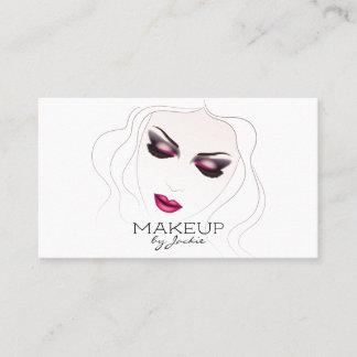 Makeup Artist Business Card w/ Sketch Woman