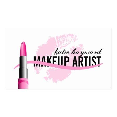 Lipstick Kisses Makeup Artist Business Cards