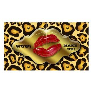 Makeup Artist Business Cards Animal Leopard Gold