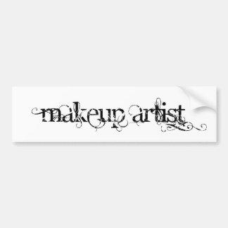 Makeup Artist Car Bumper Sticker