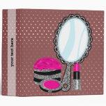 Makeup artist - choose background color 3 ring binder