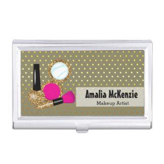 Makeup artist - choose background color business card case
