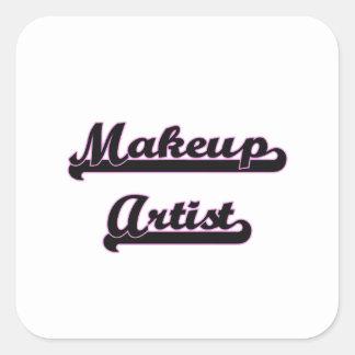 Makeup Artist Classic Job Design Square Sticker