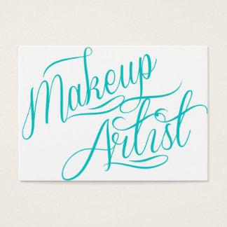 makeup artist classy business card