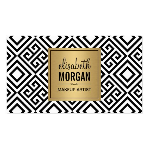 Makeup Artist - Classy Gold Abstract Pattern Double-sided Standard Business Cards (pack Of 100)