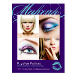 Makeup Artist Comp Card Post Card