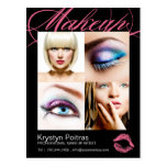 Makeup Artist Comp Card Postcard