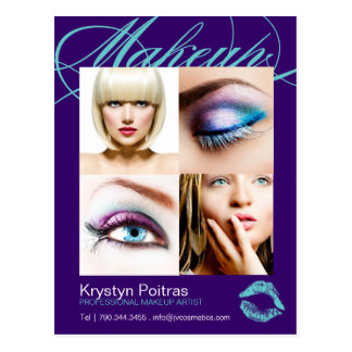Makeup Artist Comp Card Postcards
