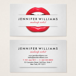 Make Up Artist Business Cards Make Up Artist Business Card - Makeup artist business card template