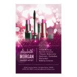 """Makeup Artist Cosmetician - Pink Beauty Glitter 5.5"""" X 8.5"""" Flyer"""