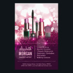 """Makeup Artist Cosmetician - Pink Beauty Glitter Flyer<br><div class=""""desc"""">Makeup Artist Cosmetician - Pink Beauty Glitter design for you.  (1) For further customization,  please click the &quot;customize further&quot; link and use our design tool to modify this template.  (2) If you need help or matching items,  please contact me.</div>"""