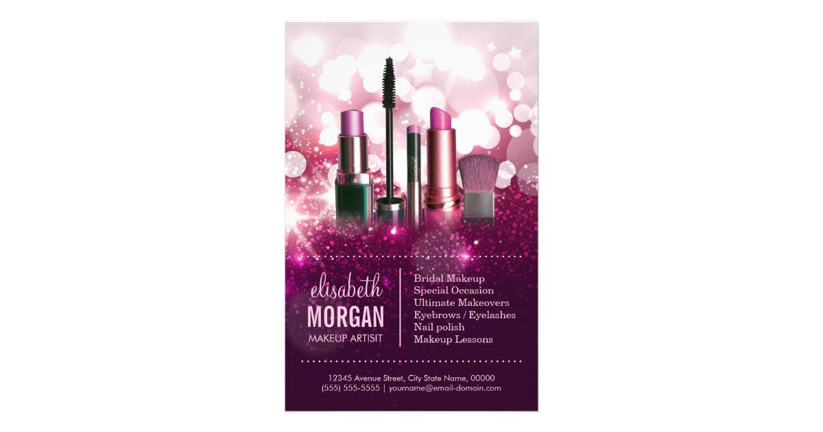makeup artist flyers