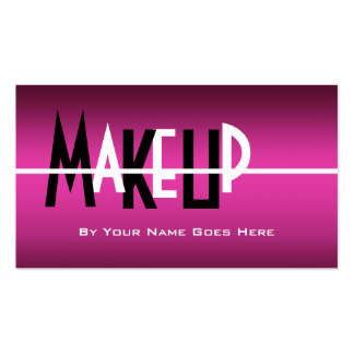 Snap makeup artist cosmetician pink beauty glitter double sided makeup artists business cards and business card templates zazzle accmission Images